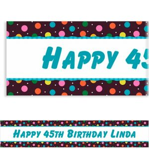 Custom Glitter Dots Banner 6ft