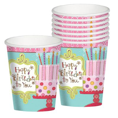 Sweet Stuff Birthday Cups 8ct