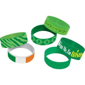 St. Patrick's Day Cuff Wristbands 6ct