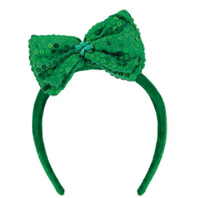 Sequined St. Patrick's Day Bow Headband