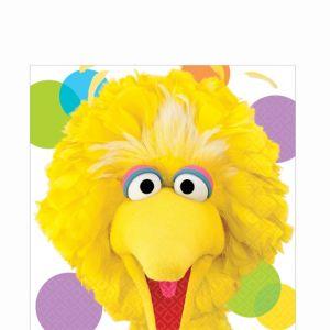 Sesame Street Big Bird Lunch Napkins 16ct
