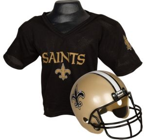 Child New Orleans Saints Helmet & Jersey Set