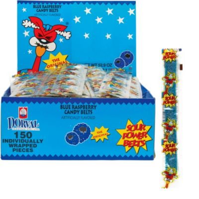 Blue Raspberry Sour Power Belts 150ct