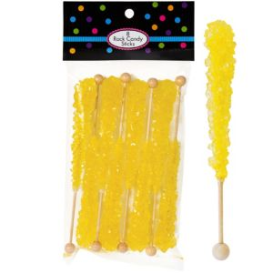 Yellow Rock Candy Sticks 8pc