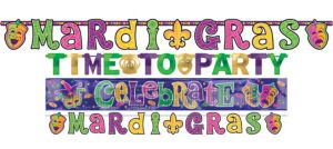 Mardi Gras Letter Banner Value Pack