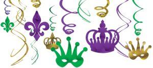 Mardi Gras Swirl Decorations 12ct