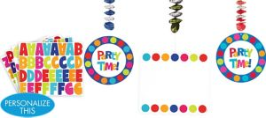 Personalized Danglers 3ct - Cabana Polka Dot