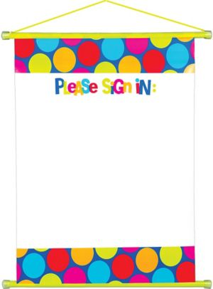 Cabana Polka Dot Sign-In Sheet