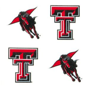 Texas Tech Red Raiders Face Tattoos 4ct