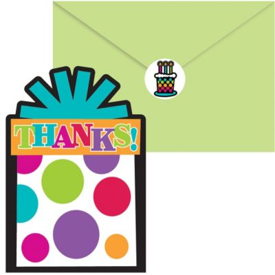 Party On Thank You Notes 20ct