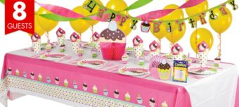 Cupcake Super Party Kit for 8 Guests