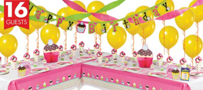 Cupcake Party Supplies Deluxe Party Kit
