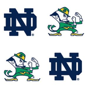 Notre Dame Fighting Irish Face Decals 4ct