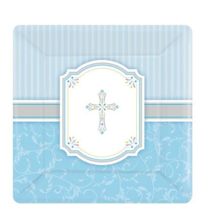 Boy's Communion Blessings Dessert Plates 8ct