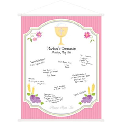 Pink Communion Hanging Sign-In Scroll