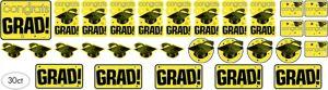Yellow Graduation Cutouts 30ct