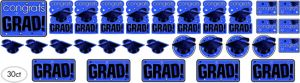 Blue Graduation Cutouts 30ct