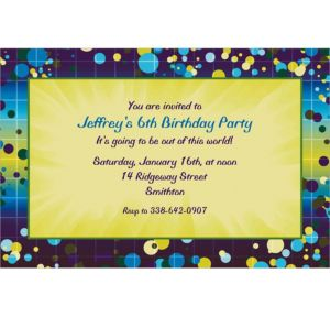 Custom Chromatic Bubbles Invitations