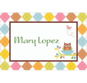 Custom Whoo Loves You Baby Shower Thank You Notes