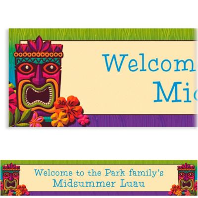 Custom Tropical Tiki Banner 6ft