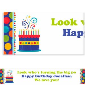Custom Birthday Fever Fun Banner 6ft