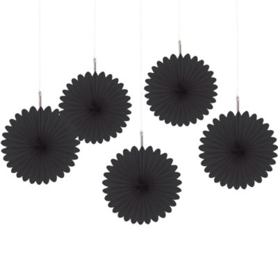 Black Hanging Fans 6in 5ct