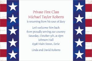 Custom Americana Welcome Home Invitations