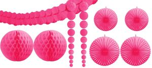 Bright Pink Party Decorating Kit 9pc