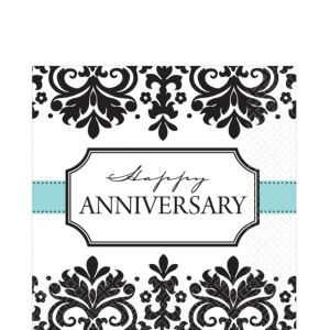 Always & Forever Anniversary Lunch Napkins 16ct