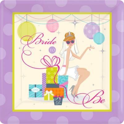 Chic Bride Bridal Shower Dinner Plates 8ct