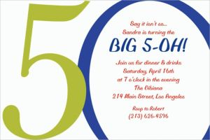 Custom Great Big 50th Invitations