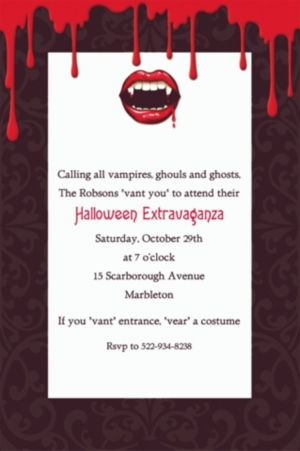 Custom Fangtastic Halloween Invitations
