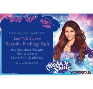 Custom Victorious Invitations
