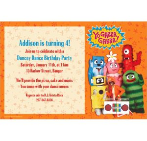 Custom Yo Gabba Gabba! Invitations