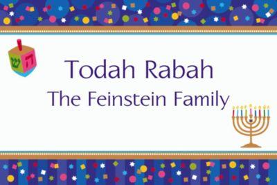 Hanukkah Celebrations Custom Thank You Note