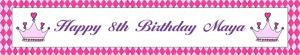 Custom Birthday Princess Crown Banner 6ft