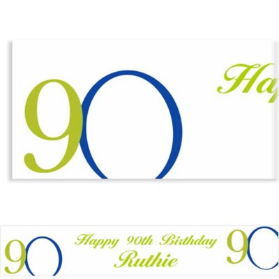 Custom Great Big 90th Banner 6ft