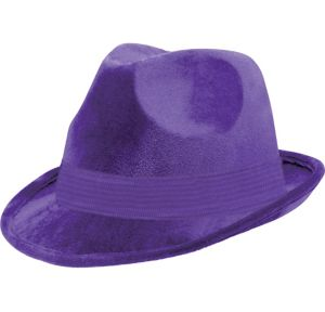 Purple Suede Fedora