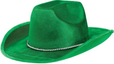 Green Suede Cowboy Hat