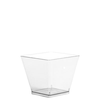 Mini CLEAR Plastic Cubes 40ct