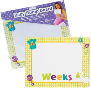 Baby Bump Dry Erase Board 9in x 8in