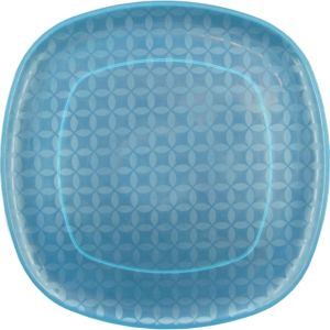 Square Blue Platter 14in