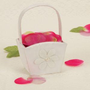 Floral Simplicity Wedding Flower Girl Basket