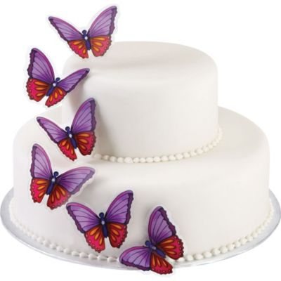 Colorful Butterfly Cake Picks 12ct