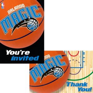 Orlando Magic Invitations & Thank You Notes for 8