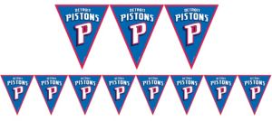 Detroit Pistons Pennant Banner