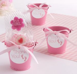 Pink Baby Shower Mini Pail Favor Kit 18ct