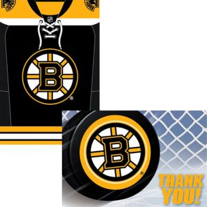 Boston Bruins Invitations & Thank You Notes for 8