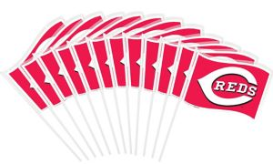 Cincinnati Reds Mini Flags 12ct