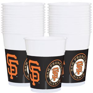 San Francisco Giants Plastic Cups 25ct